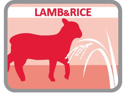 Con cordero y con arroz para los animales con mayor sensibilidad digestiva