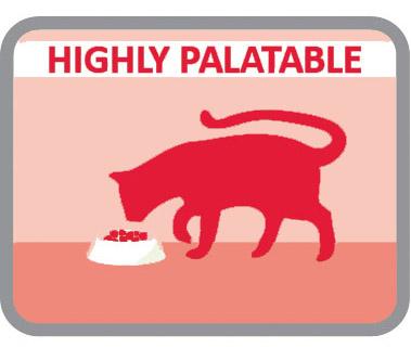 Altamente palatable para los gatos más caprichosos