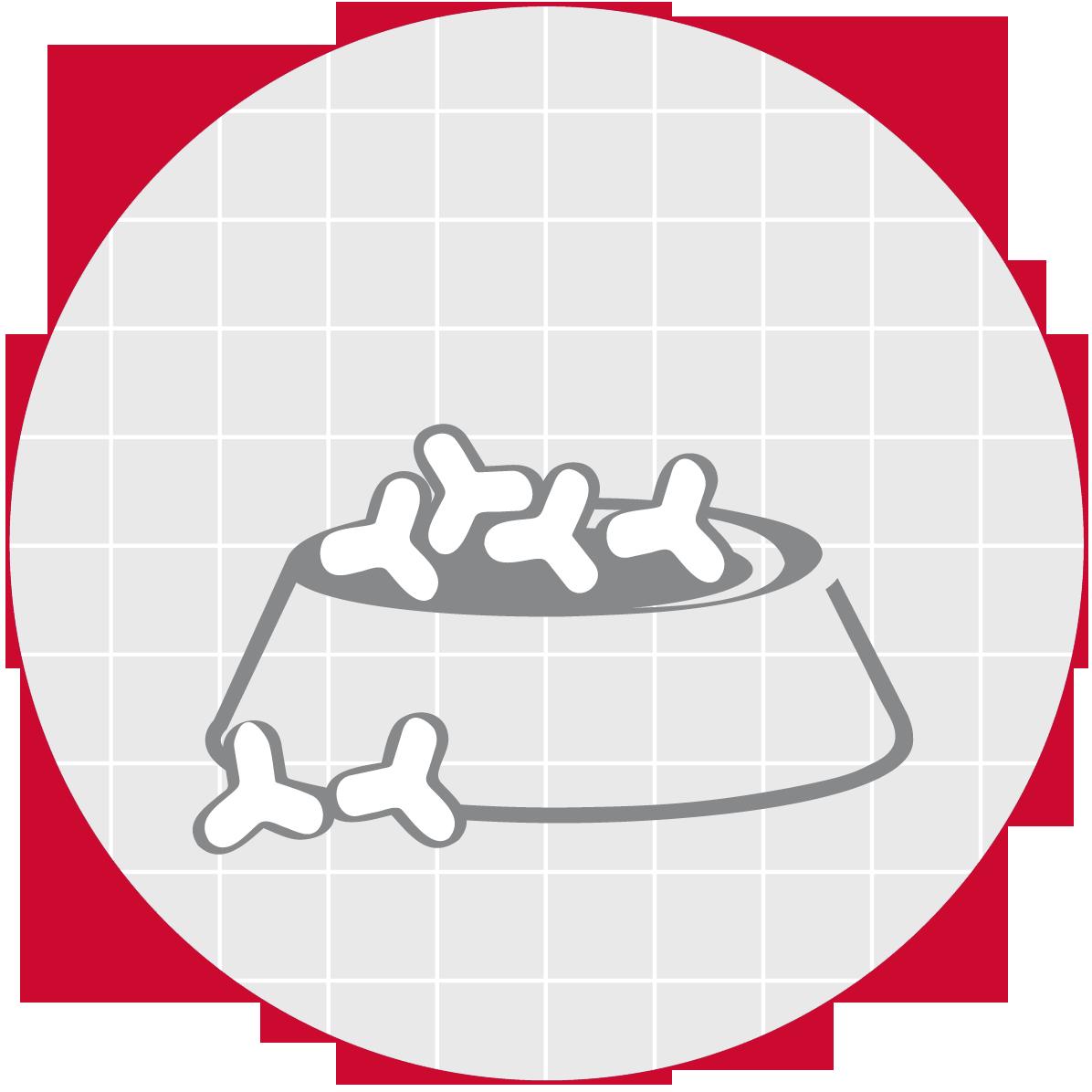 Partículas muy pequeñas y de fácil reconstitución con líquido para formar papilla